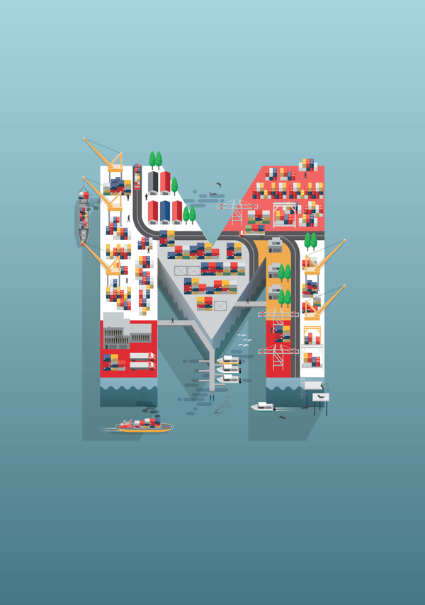 Ilustración publicitaria para HSBC (Campaña RMB) por Jing Zhang. Agencia: GREY London
