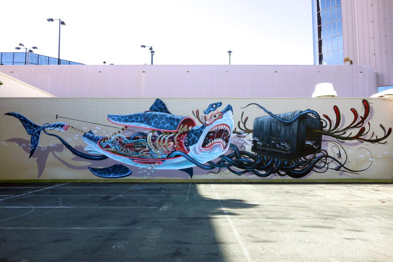 """Shark"" por Nychos (Hawái, Pow Wow 2013)"