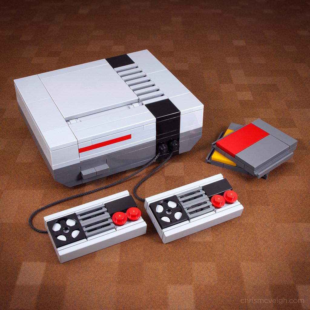 """""""Nintendo NES"""" en Lego, por Chris McVeigh"""