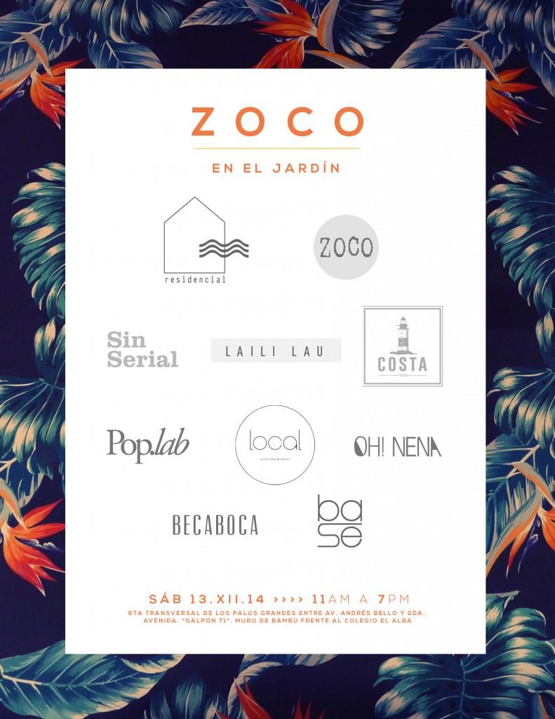 Flyer Zoco en el jardín