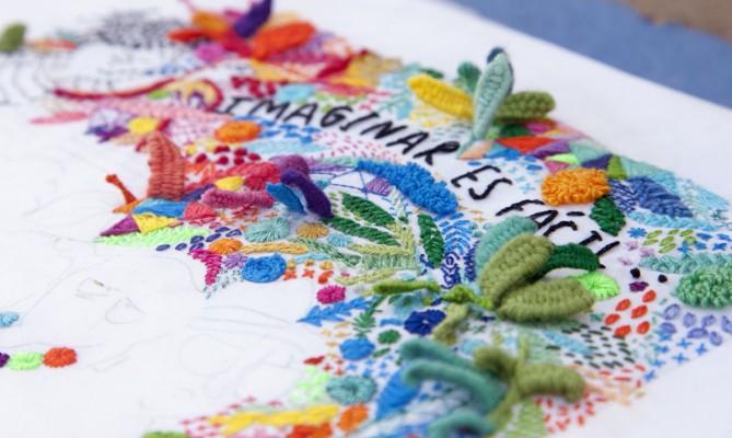 """Detalle del bordado para una viñeta de """"Diario de una volátil"""""""