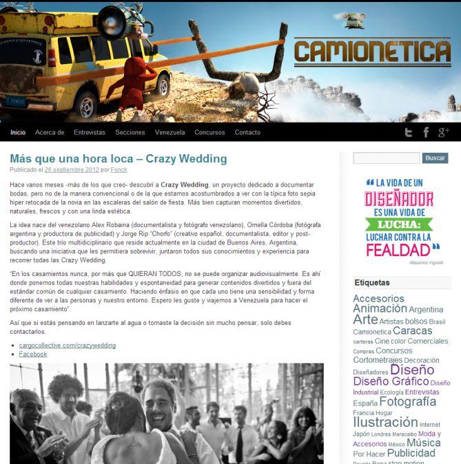 Antiguo Diseño de Camionetica.com (2009-2012)