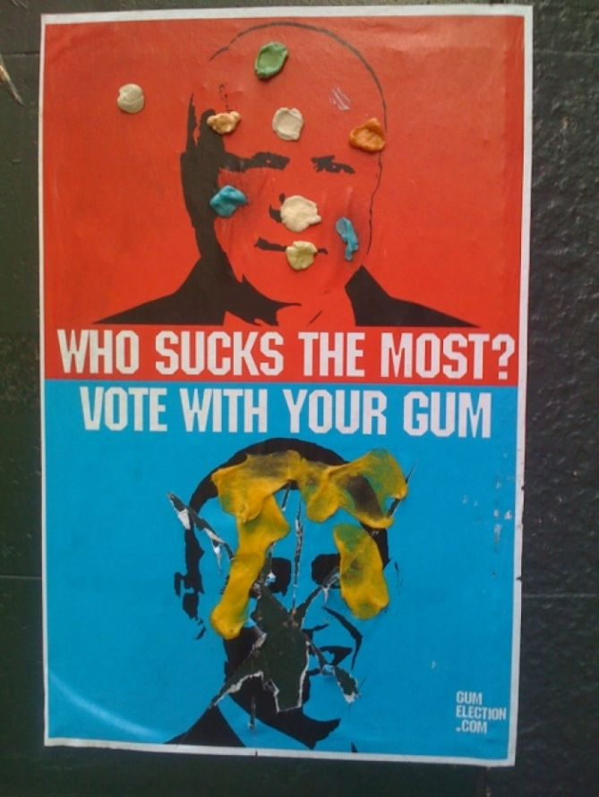 Gum Election 2008 - McCain vs Obama