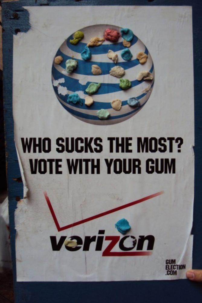 Gum Election 2011 - AT&T vs Verizon