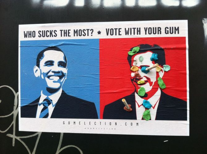 Gum Election 2012 - Cooper Union Poster, East Village