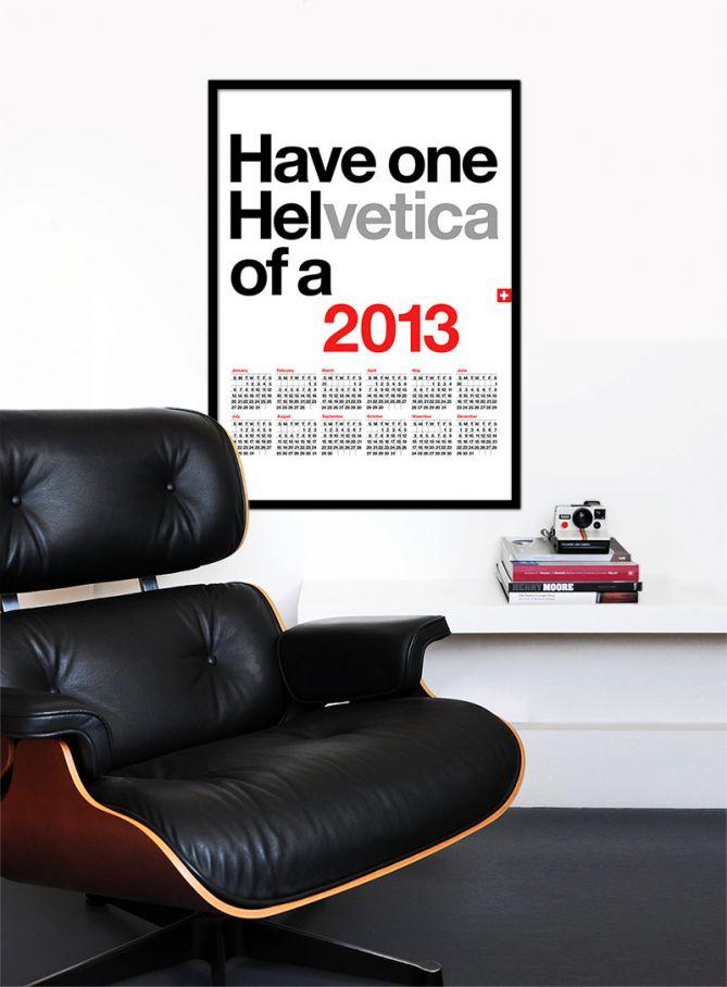 Helvetica Calendar 2013 por Yumalum