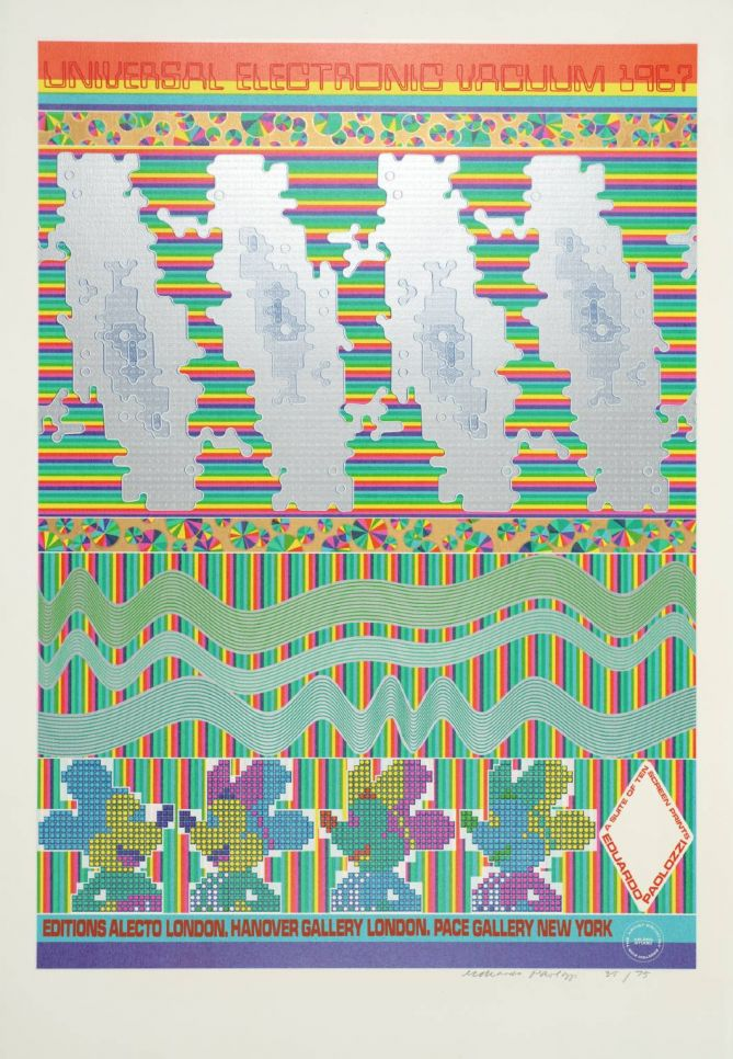 """Universal Electronic Vacuum"" Poster (Sir Eduardo Paolozzi, 1967)"