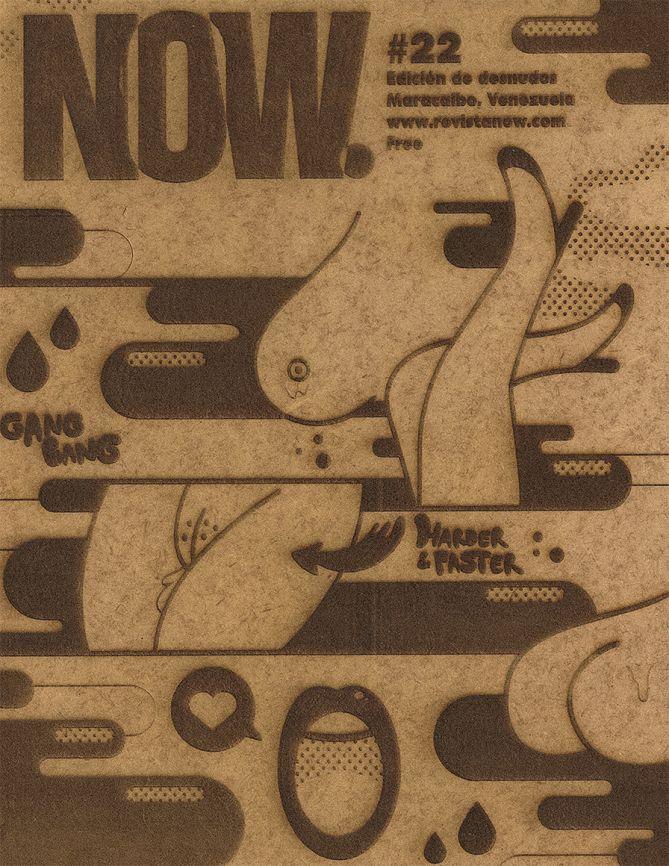 Revista NOW #22 - Ilustración para portada  por Israel Romero